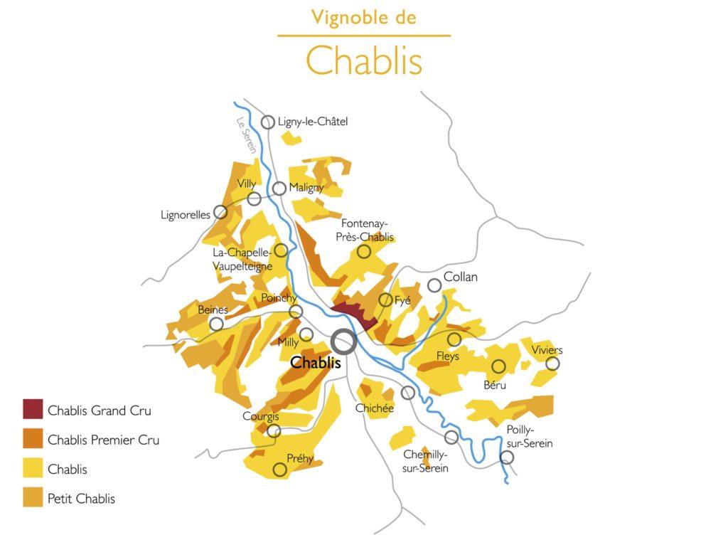 VINUM Chablis-Map (Attribution: https://www.chablis-wines.com)
